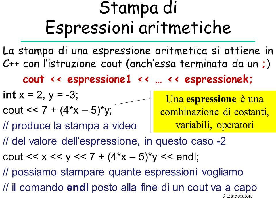 Stampa di Espressioni aritmetiche