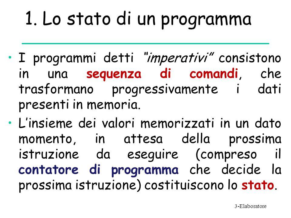 1. Lo stato di un programma