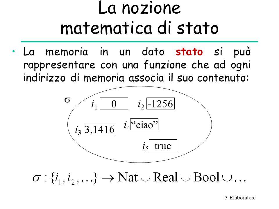 La nozione matematica di stato