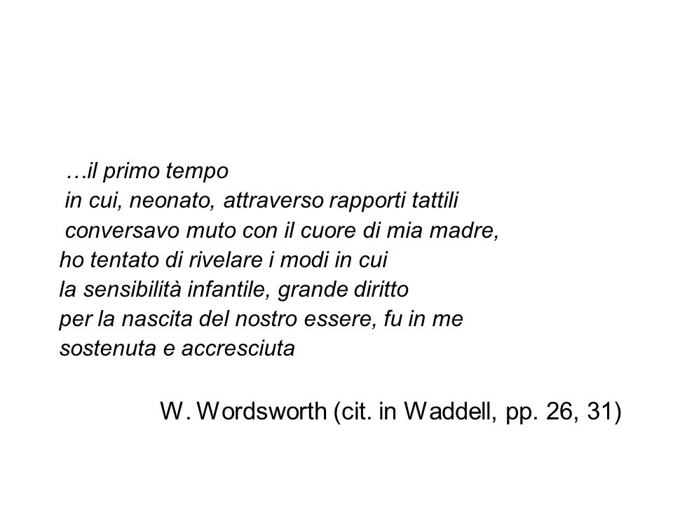 W. Wordsworth (cit. in Waddell, pp. 26, 31)
