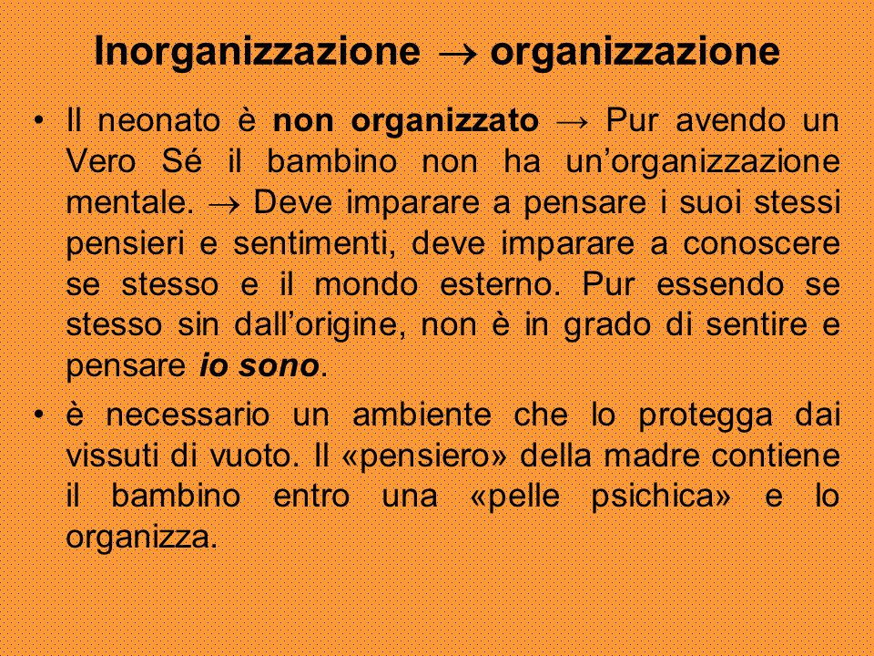 Inorganizzazione  organizzazione