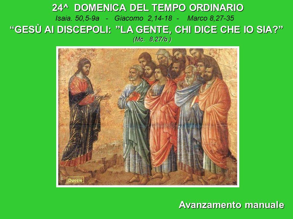 24^ DOMENICA DEL TEMPO ORDINARIO