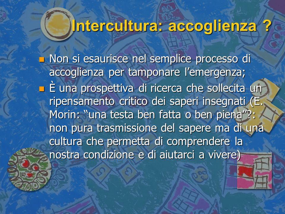Intercultura: accoglienza