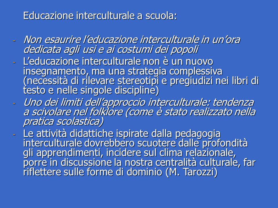 Educazione interculturale a scuola: