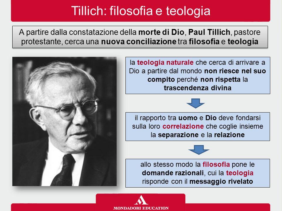 Tillich: filosofia e teologia