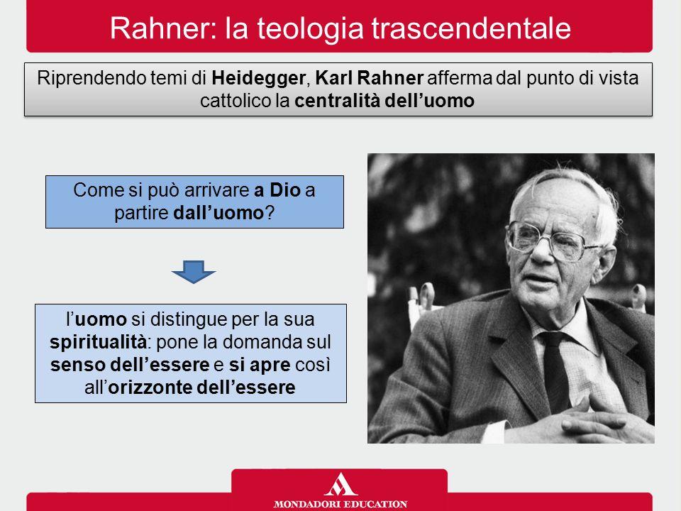 Rahner: la teologia trascendentale