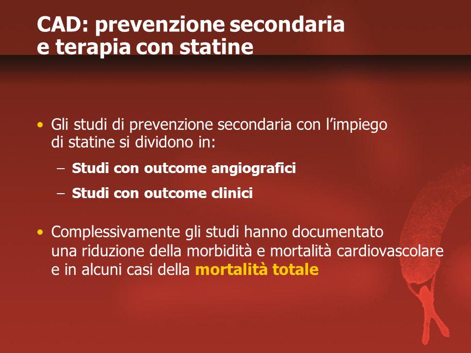 CAD: prevenzione secondaria e terapia con statine