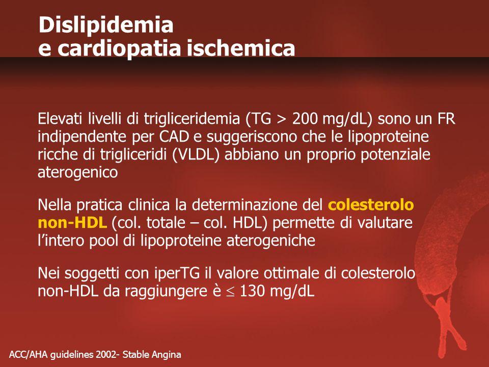 Dislipidemia e cardiopatia ischemica
