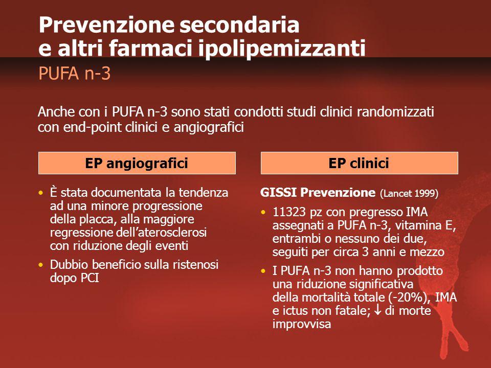 Prevenzione secondaria e altri farmaci ipolipemizzanti