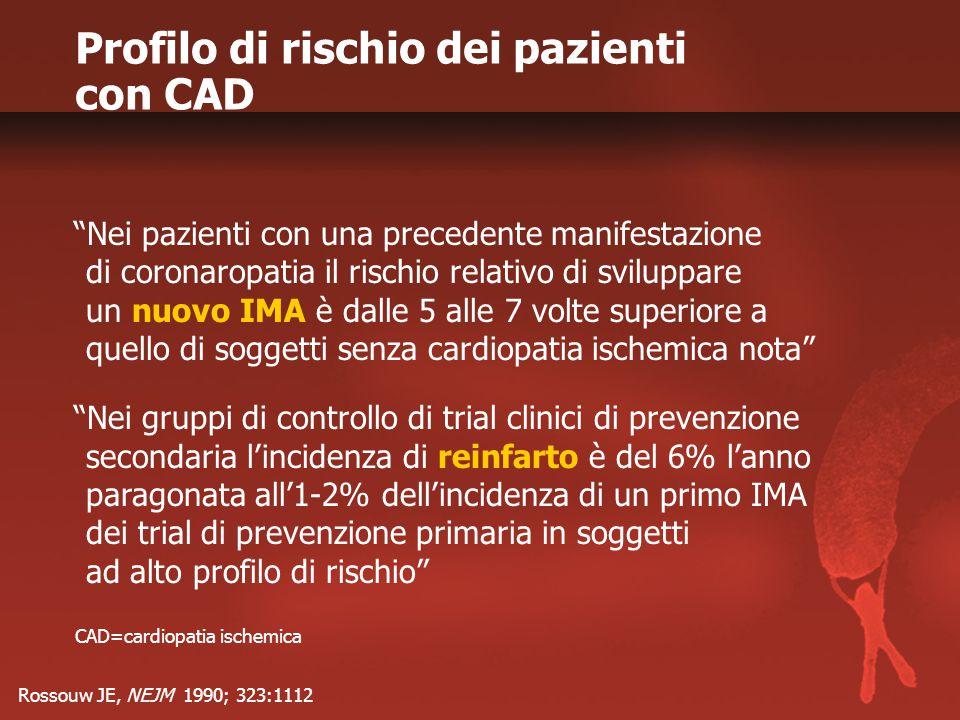 Profilo di rischio dei pazienti con CAD