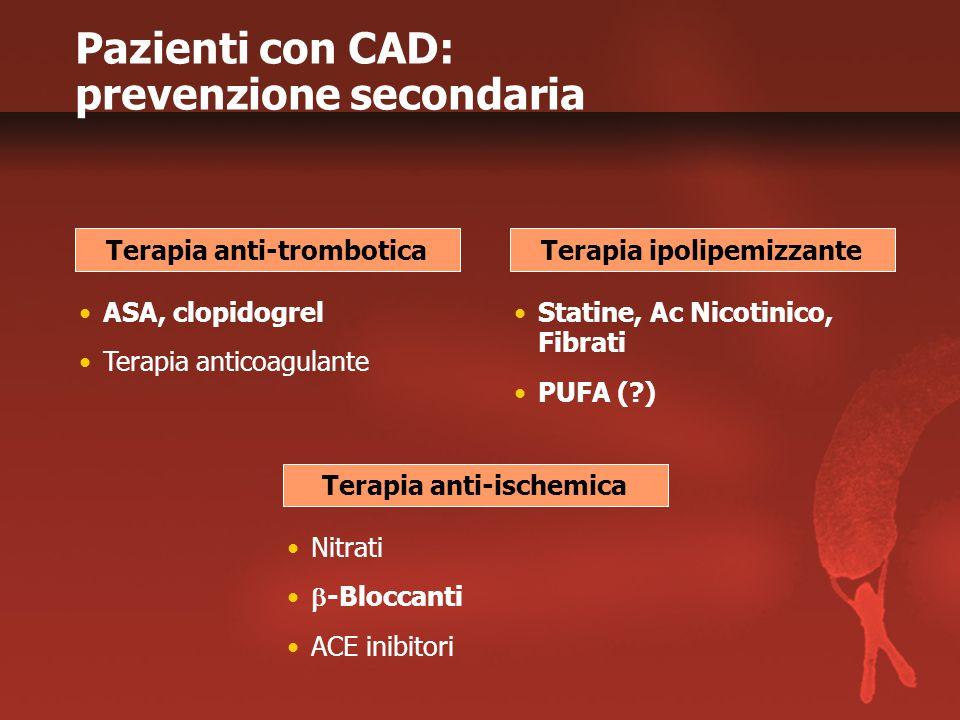 Pazienti con CAD: prevenzione secondaria