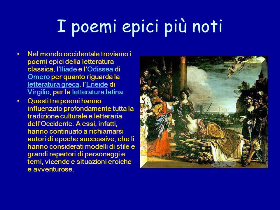 I poemi epici più noti