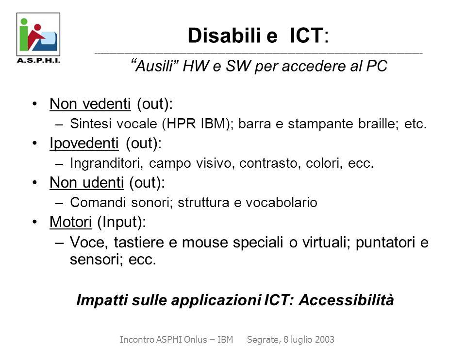 Impatti sulle applicazioni ICT: Accessibilità