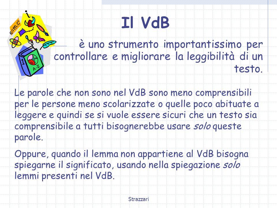 Il VdB è uno strumento importantissimo per controllare e migliorare la leggibilità di un testo.