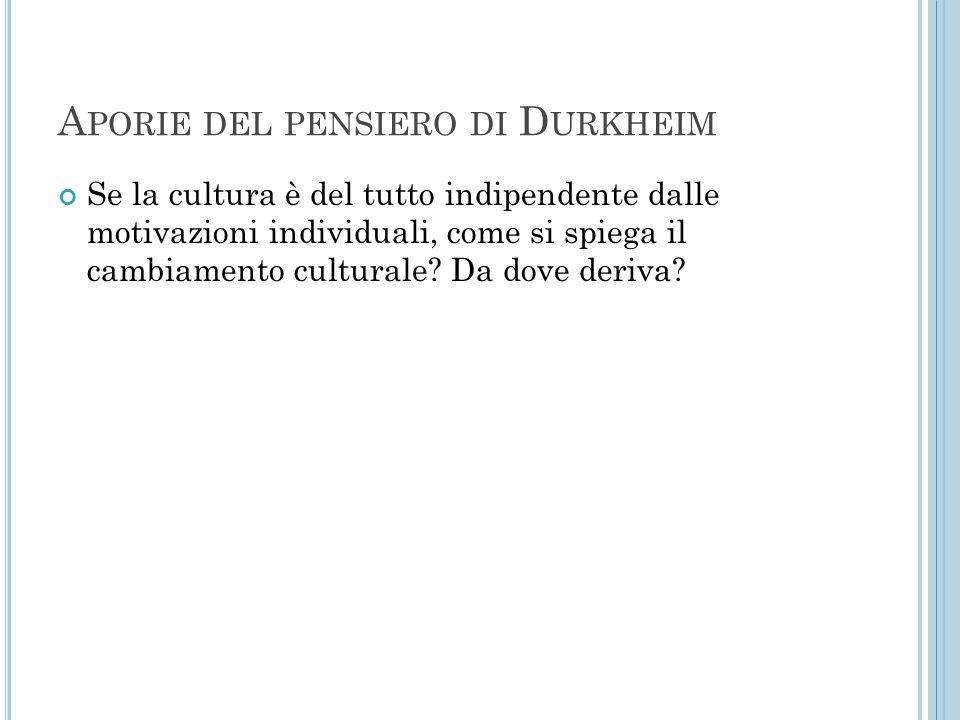 Aporie del pensiero di Durkheim