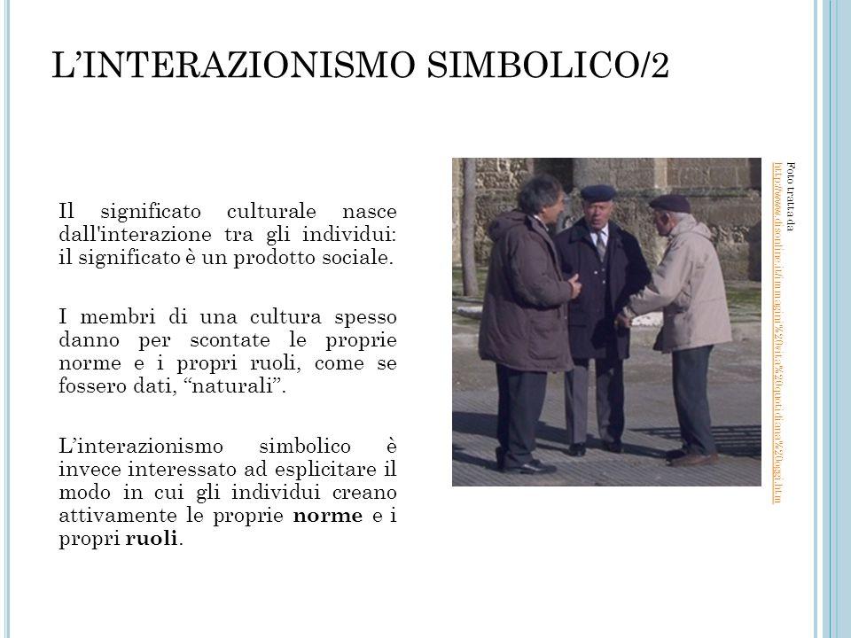 L'INTERAZIONISMO SIMBOLICO/2