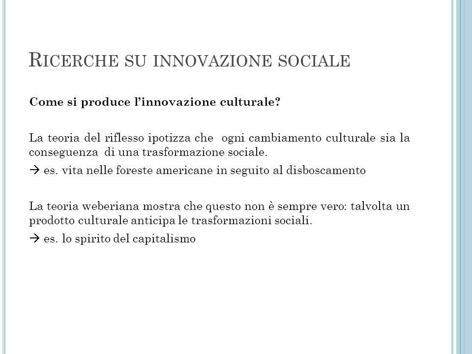 Ricerche su innovazione sociale
