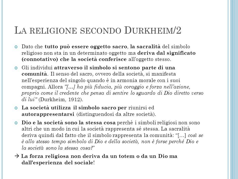 La religione secondo Durkheim/2