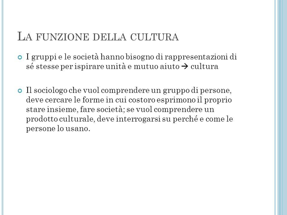 La funzione della cultura