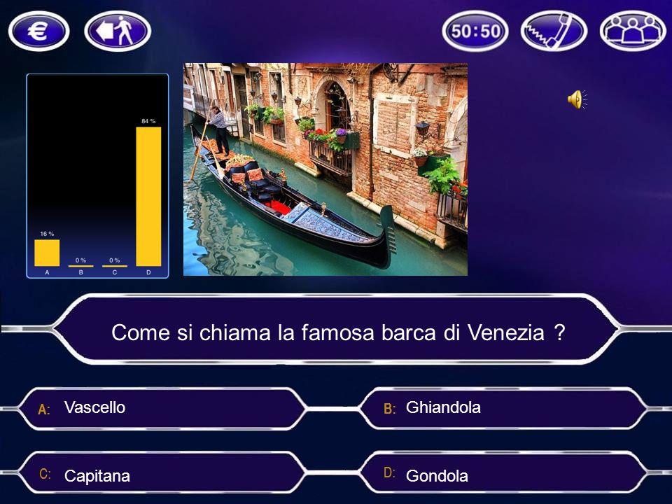 Come si chiama la famosa barca di Venezia