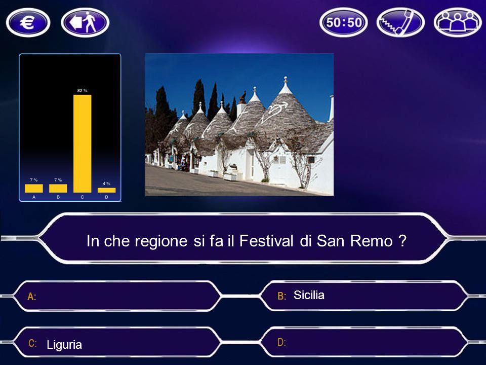 In che regione si fa il Festival di San Remo