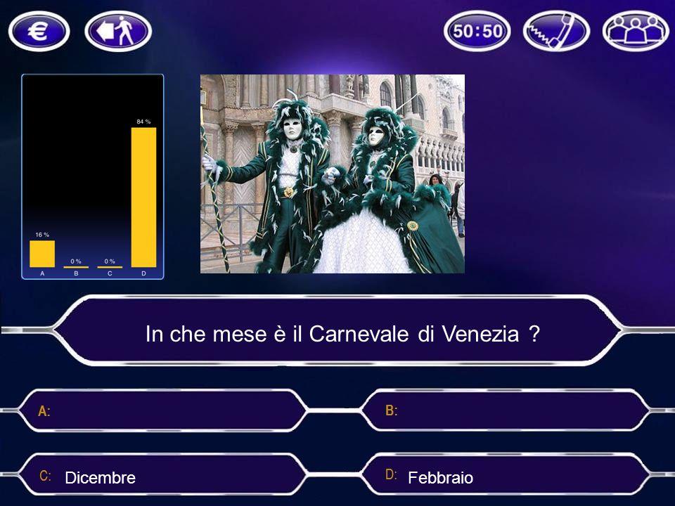 In che mese è il Carnevale di Venezia