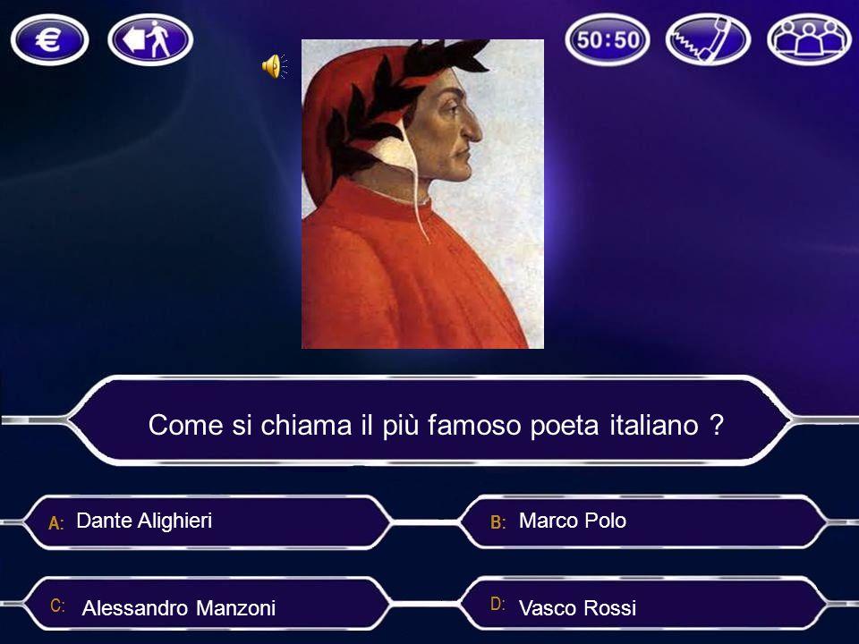 Come si chiama il più famoso poeta italiano