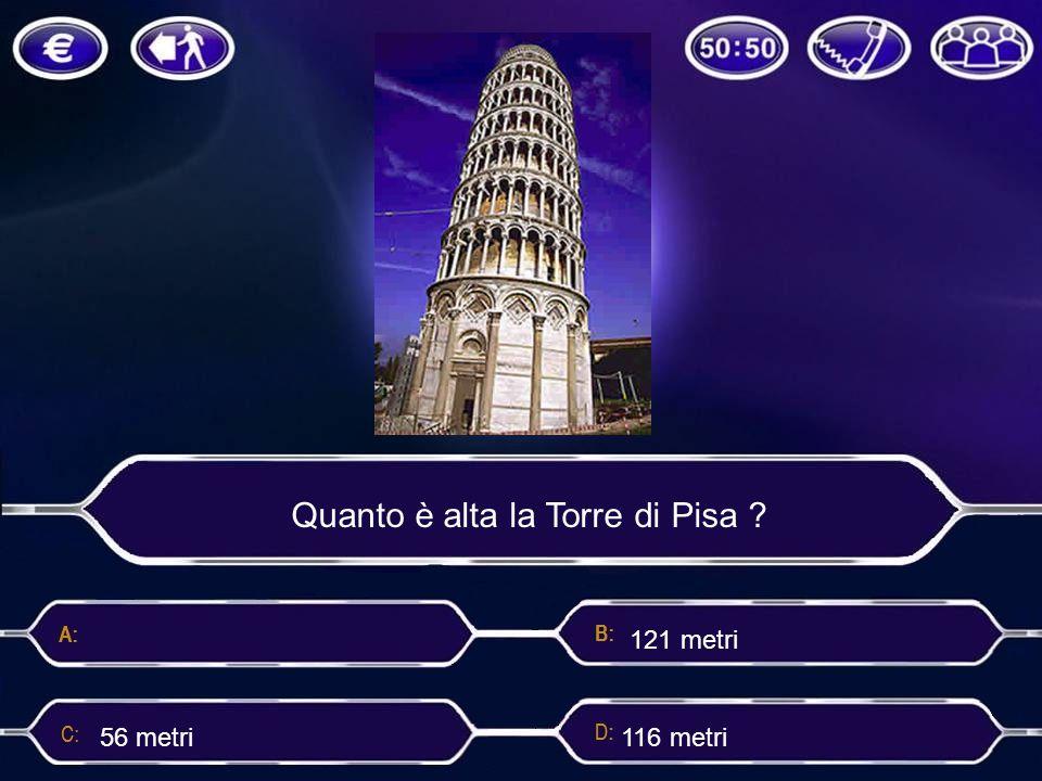 Quanto è alta la Torre di Pisa