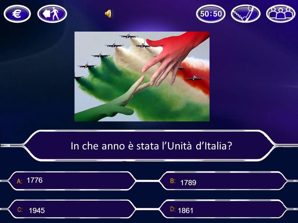 In che anno è stata l'Unità d'Italia