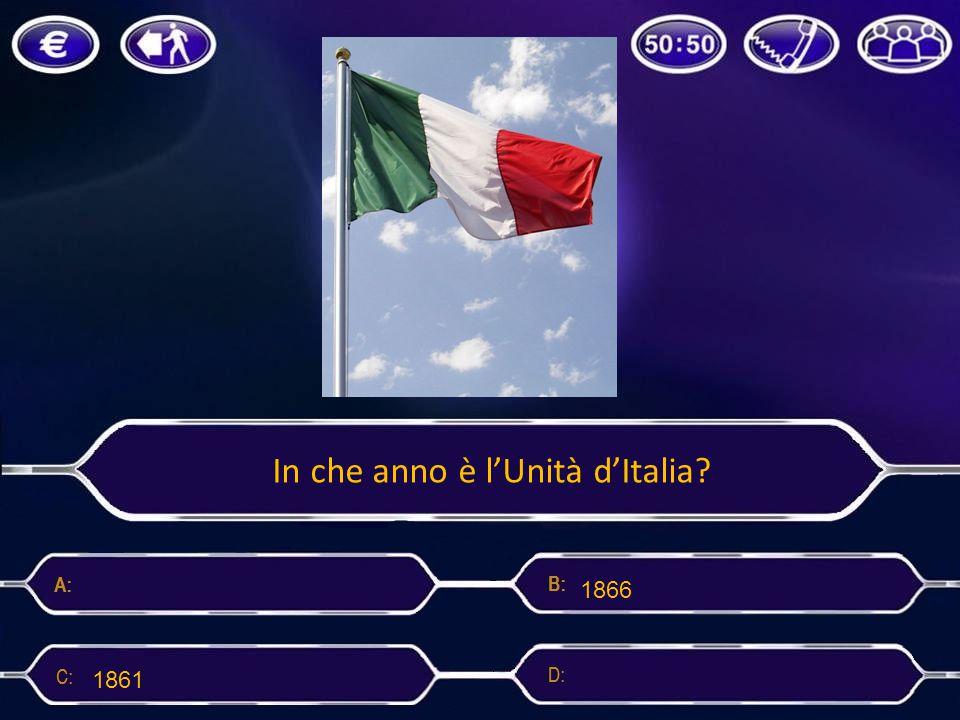 In che anno è l'Unità d'Italia