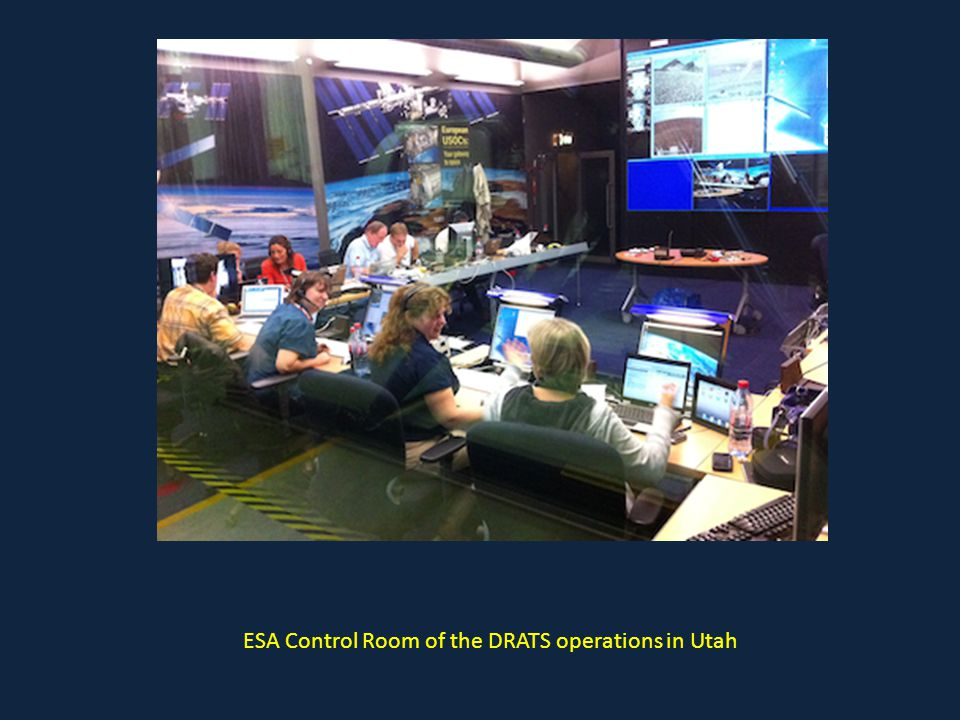 ESA Control Room of the DRATS operations in Utah