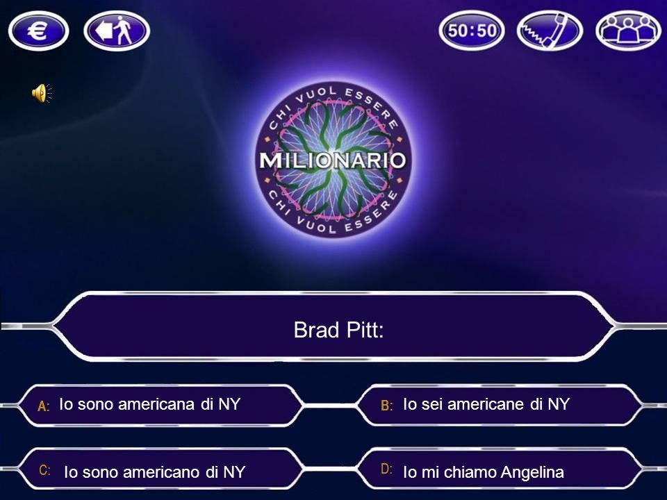Brad Pitt: Io sono americana di NY Io sei americane di NY