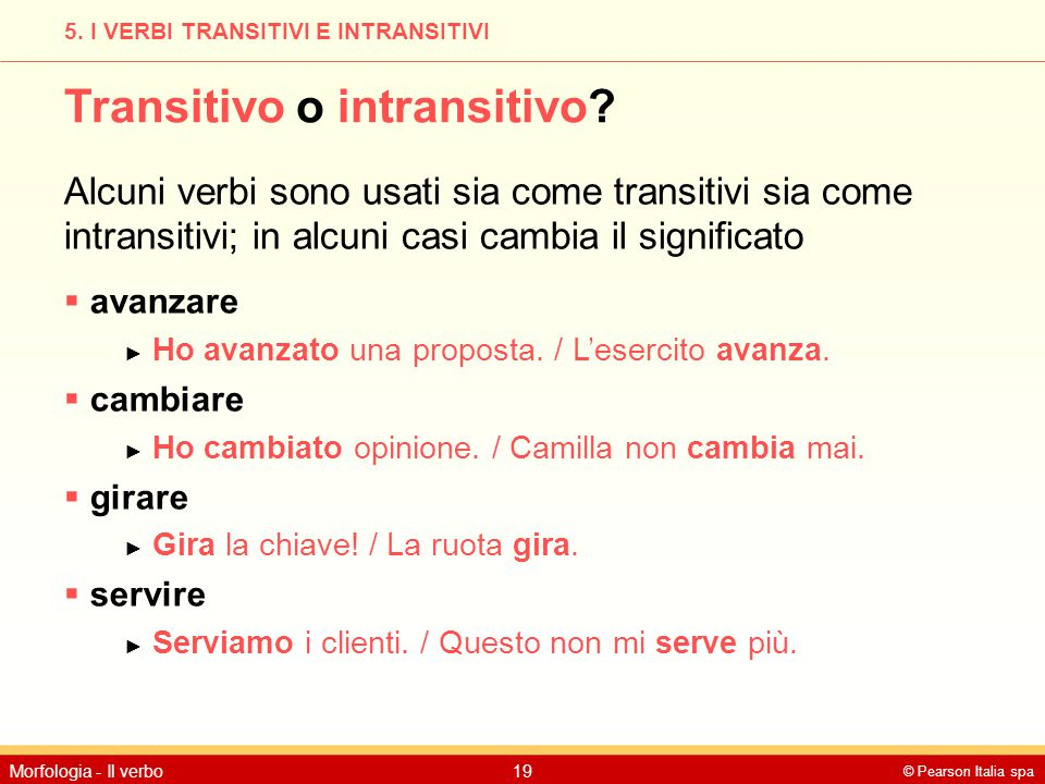 Transitivo o intransitivo