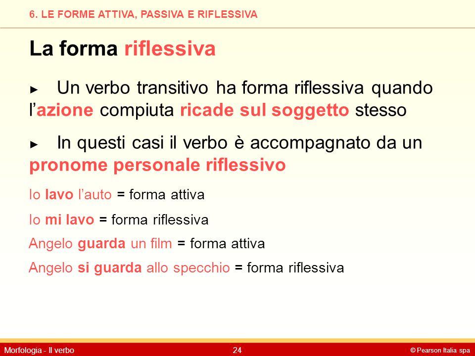 6. LE FORME ATTIVA, PASSIVA E RIFLESSIVA