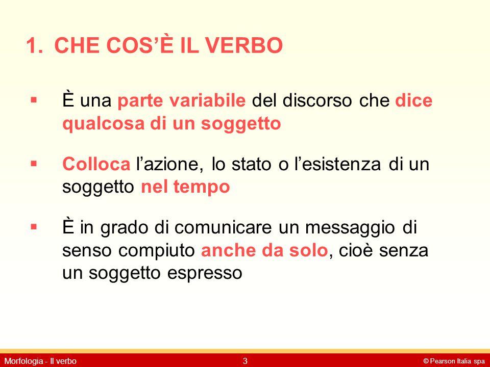 CHE COS'È IL VERBO È una parte variabile del discorso che dice qualcosa di un soggetto.