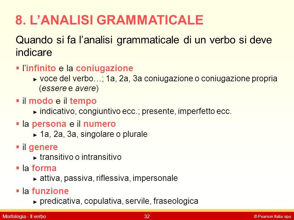 8. L'ANALISI GRAMMATICALE