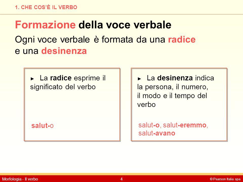 Formazione della voce verbale