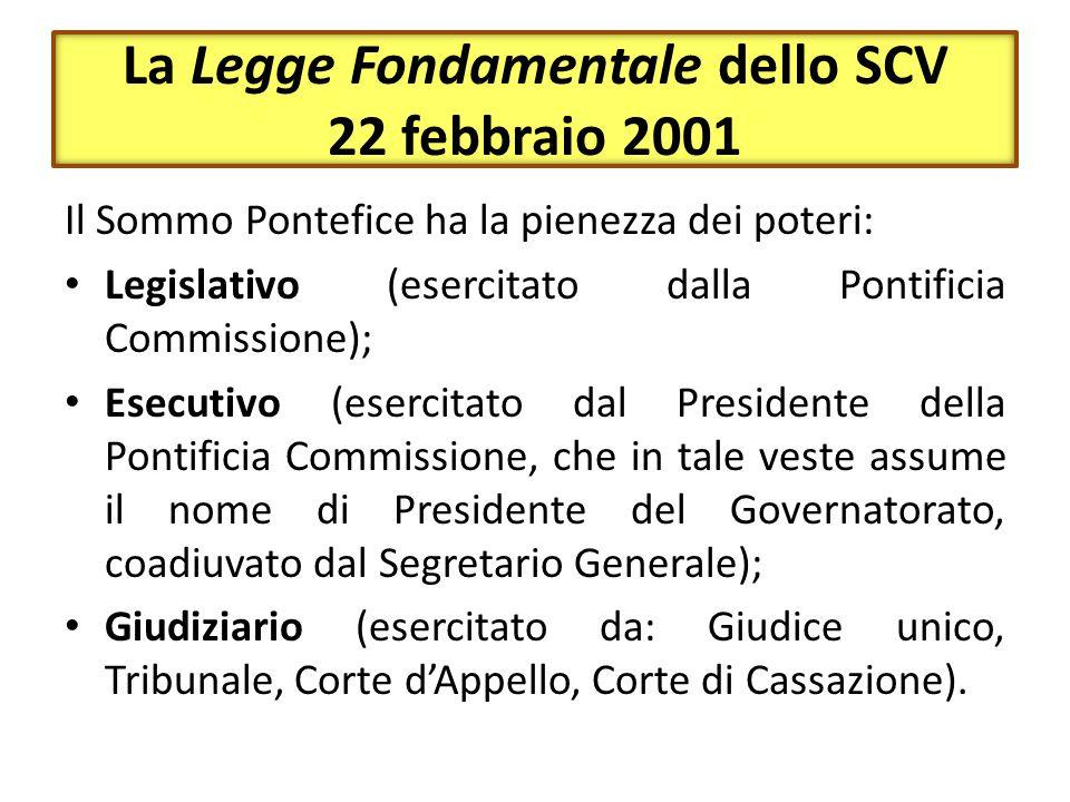 La Legge Fondamentale dello SCV 22 febbraio 2001