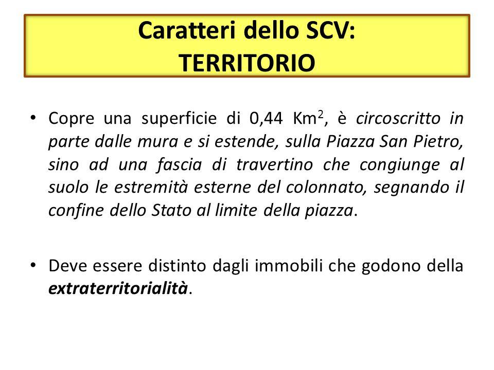 Caratteri dello SCV: TERRITORIO