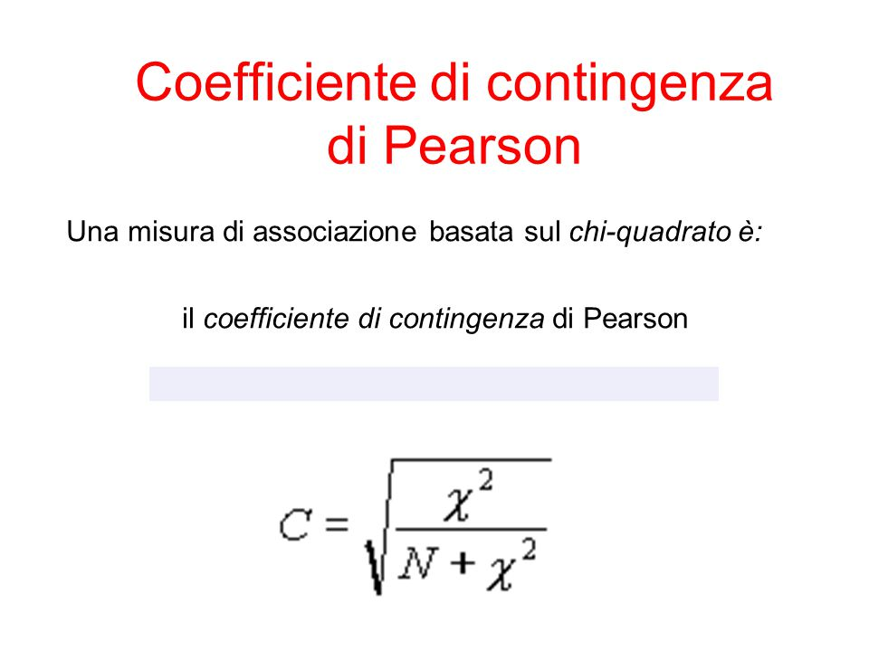 Coefficiente di contingenza di Pearson
