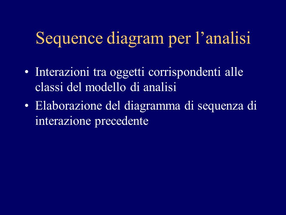 Sequence diagram per l'analisi
