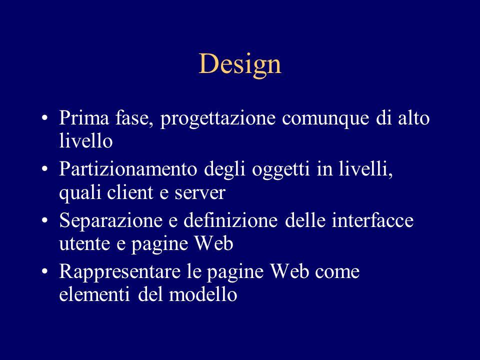 Design Prima fase, progettazione comunque di alto livello
