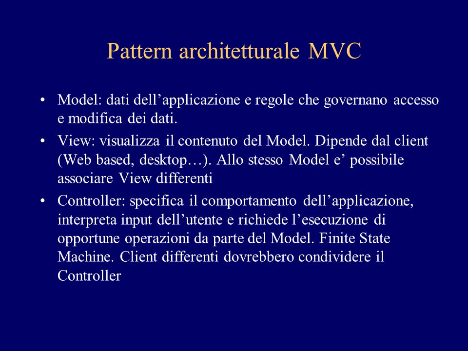 Pattern architetturale MVC