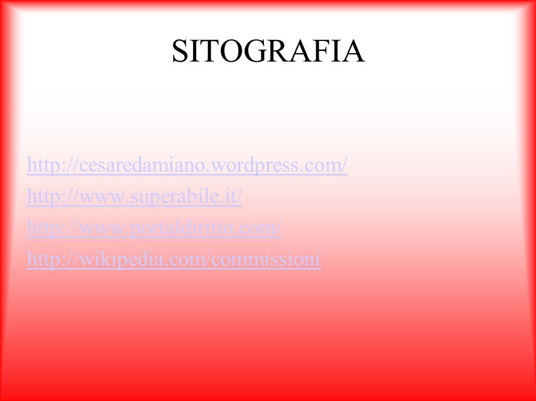 SITOGRAFIA http://cesaredamiano.wordpress.com/