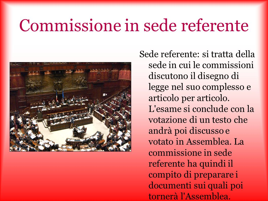 Commissione in sede referente