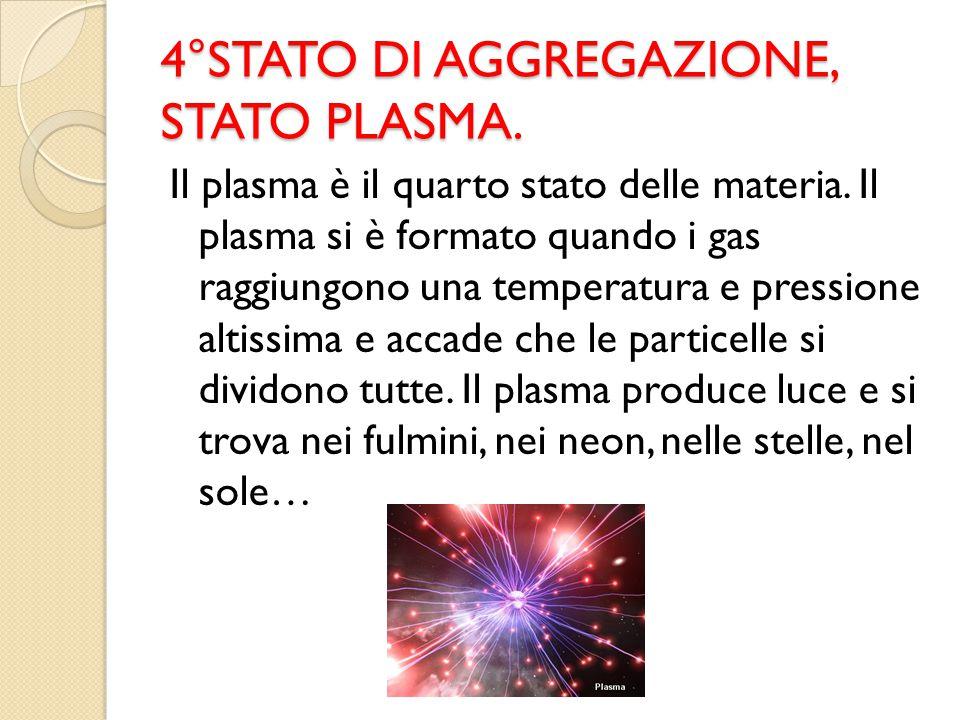 4°STATO DI AGGREGAZIONE, STATO PLASMA.