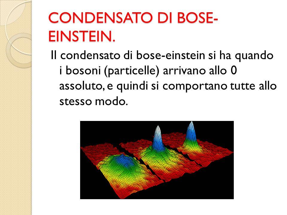 CONDENSATO DI BOSE-EINSTEIN.