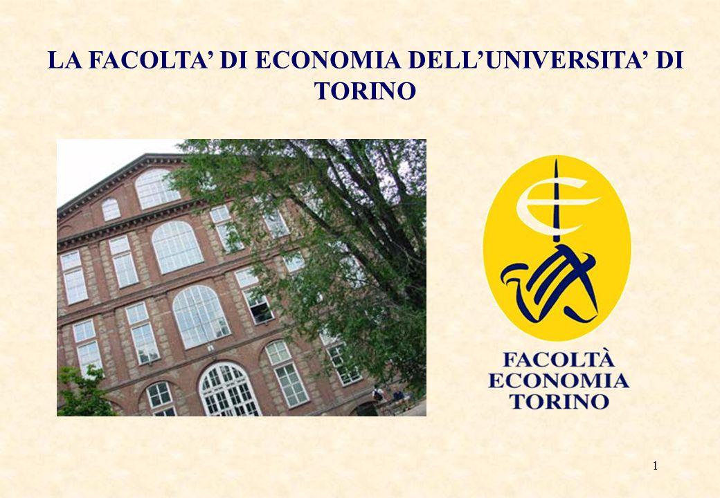 LA FACOLTA' DI ECONOMIA DELL'UNIVERSITA' DI TORINO