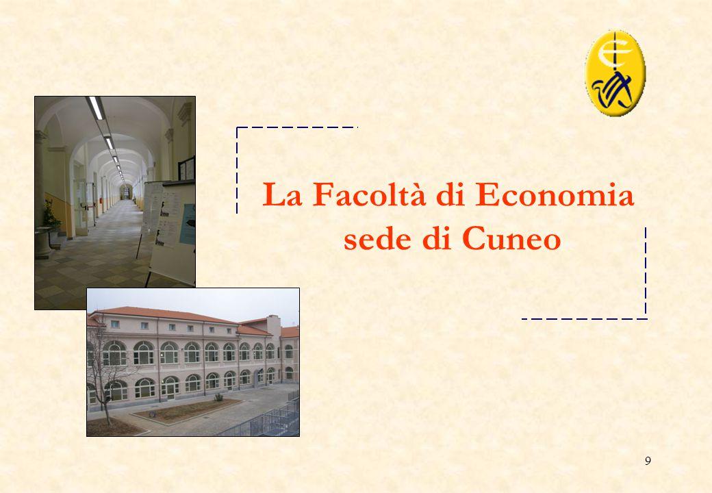 La Facoltà di Economia sede di Cuneo