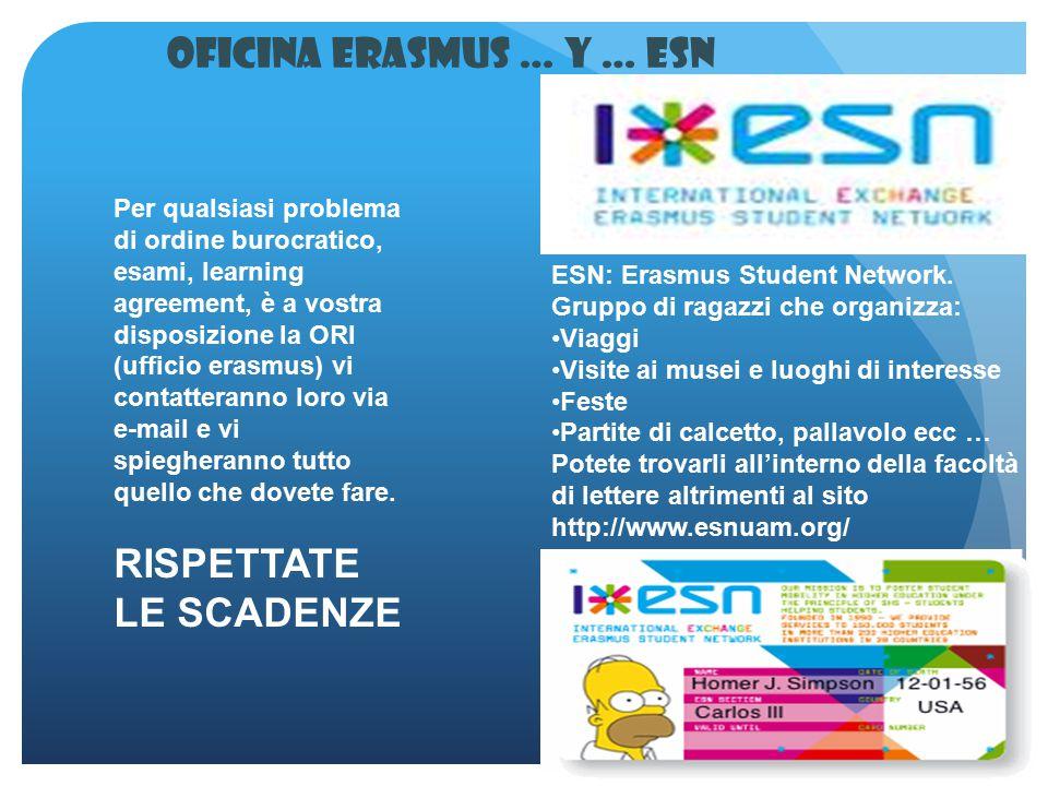 Oficina Erasmus … y … ESN